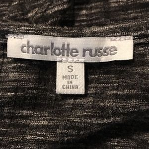 Charlotte Russe Dresses - Charlotte Russe Bodycon Open back Marled Dress SzS